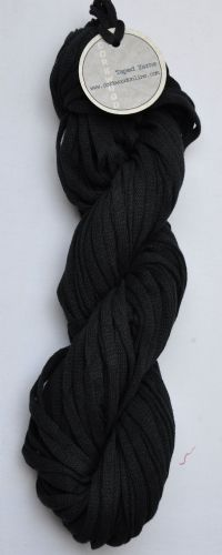 Black cotton/linen mix ChunkyTape yarn 100g skein